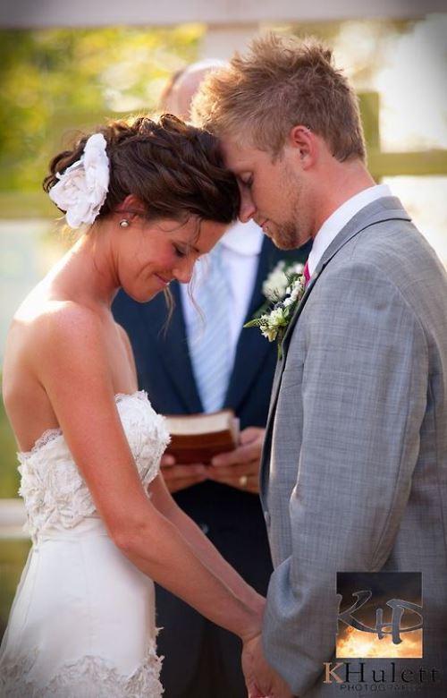 Formaliteiten. Afbeelding bruidspaar