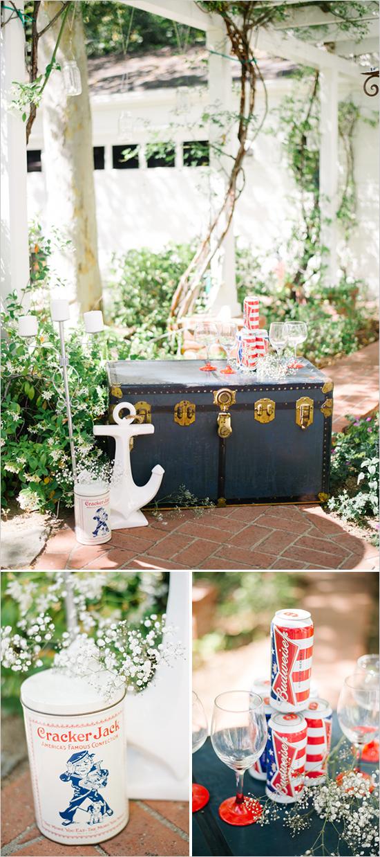 3. Amerikaanse bruiloft. inspiratie dranken tafel