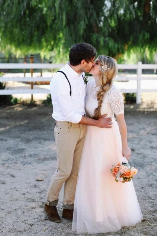 4. INSPIRATIE BRUILOFT. bruidspaar boeket