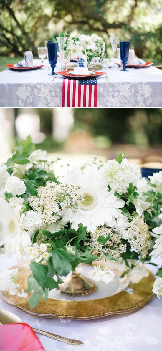 5. Amerikaanse bruiloft. inspiratie bloemstukken