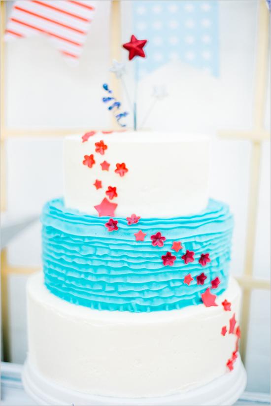 7. Amerikaanse bruiloft. inspiratie bruidstaart