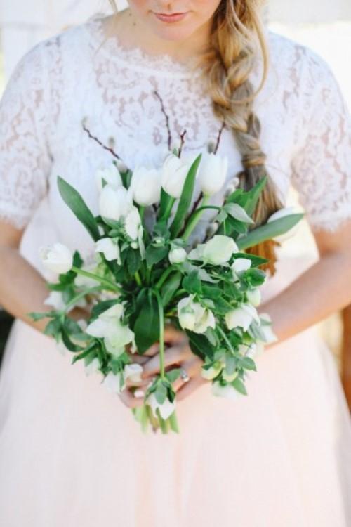 7. INSPIRATIE BRUILOFT. groen bruidsboeket