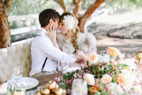 A6. INSPIRATIE BRUILOFT. bruidstafel met bruidspaar