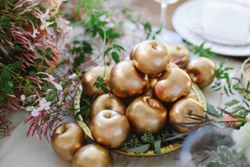 A8. INSPIRATIE BRUILOFT. gouden appeltjes