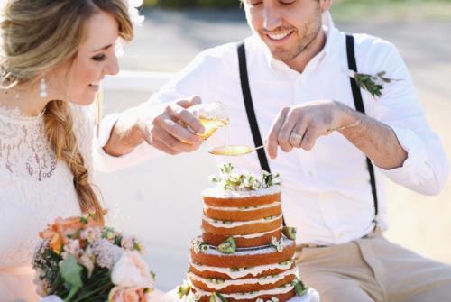 B2. INSPIRATIE BRUILOFT. bruidstaart honing