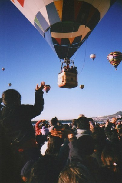 Huwelijkslijst. ballonvlucht