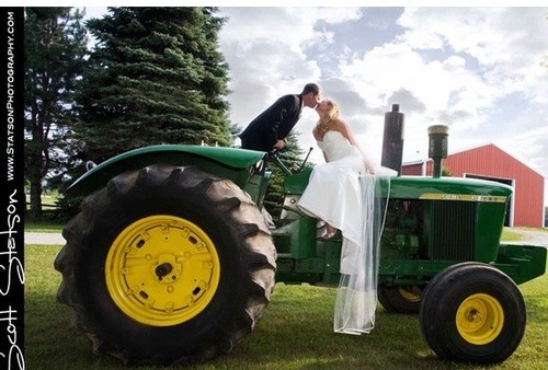 Trouwvervoer. tractor