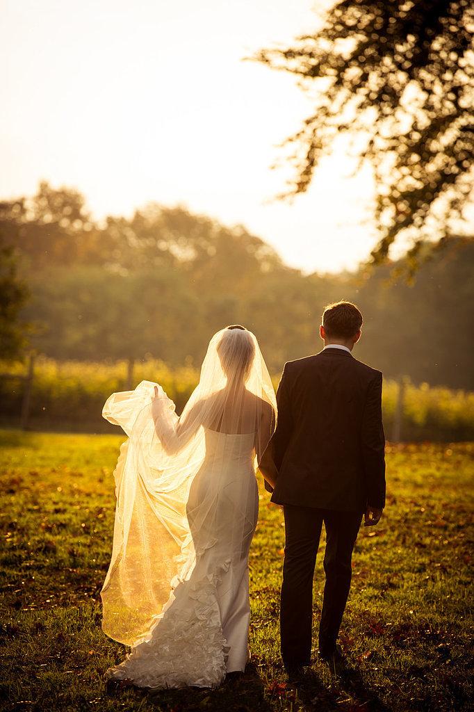 tegenlicht trouwfoto