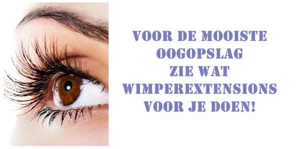EXTENSIONS WIMPERS VOOR DE BRUID