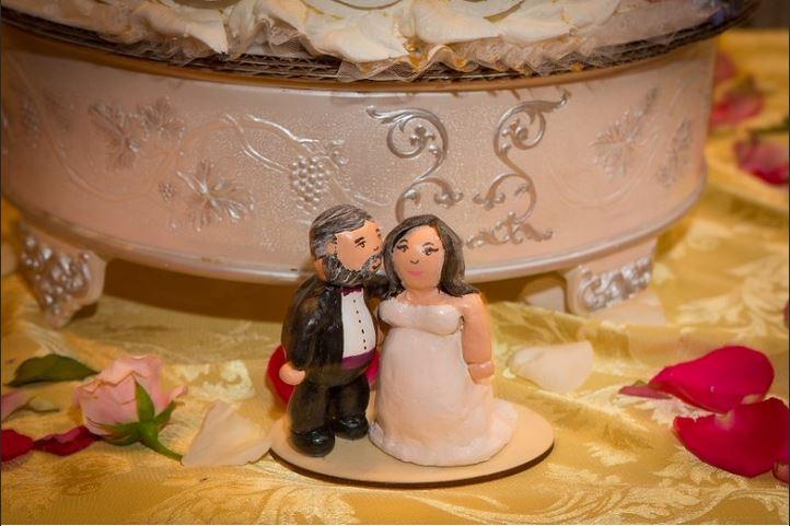 volslanke bruid taarttopper