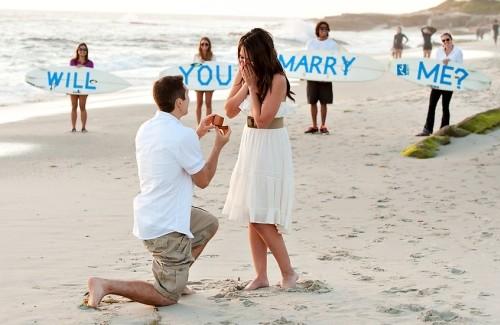 romantisch ten huwelijk vragen