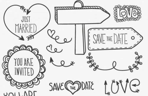 Wedding Doodles voor jouw Trouwagenda