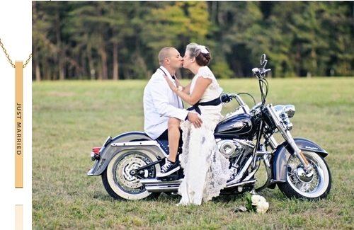 Huwelijksreis op de motor
