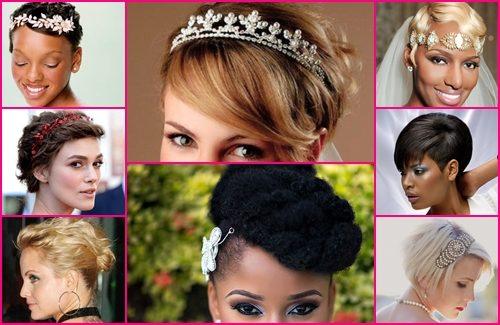 Bruidskapsel voor bruiden met kort haar en middellang haar