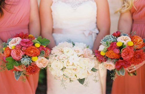 Living Coral toepassen op jouw bruiloft.