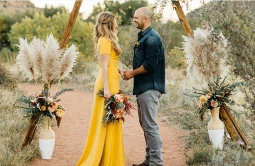 Trouwen in het wit? 5 redenen om te kiezen voor een gekleurde bruidsjurk